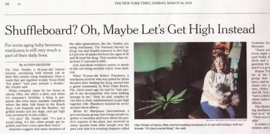 "NY Times acknowledges MJ use by ""older folk"""