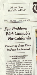 Common Sense About Cannabis in the NY Times
