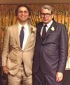 Carl and his best man at his wedding in 1981