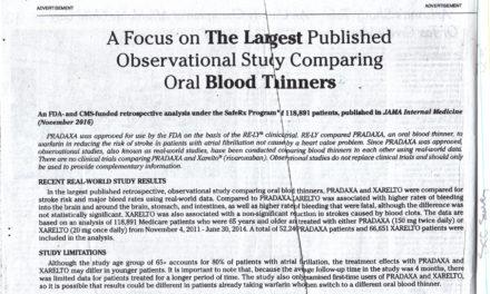 "Pradaxa ad cites ""Real-World Study Results"""
