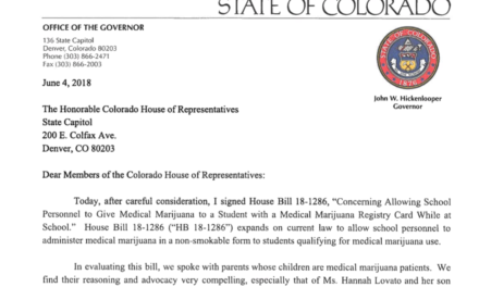 CO will let school nurses administer cannabis to kids