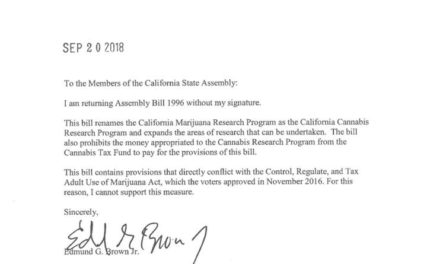 Brown Vetoes MJ Research Bill